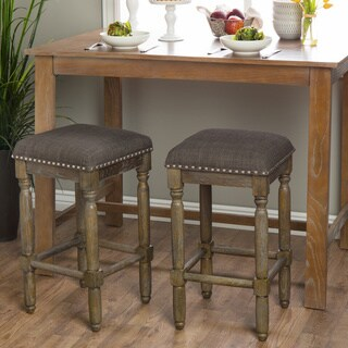 Stones & Stripes Renate Brown and Grey Counter Stools (Set of 2)