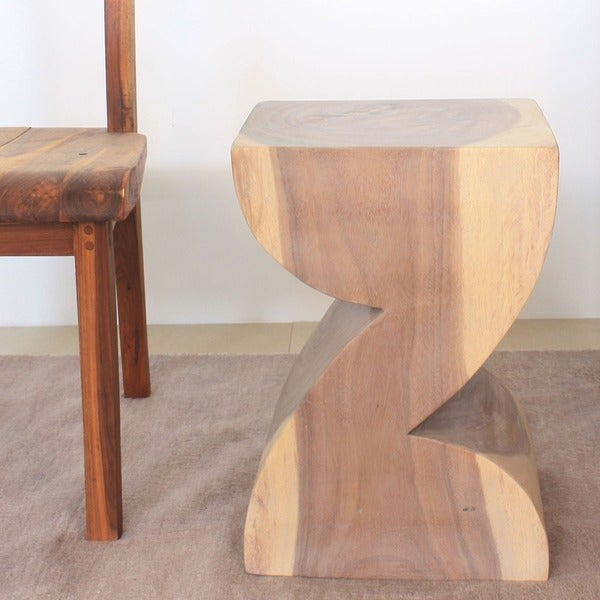 Zat-shaped Agate Grey Oil End Table (Thailand)