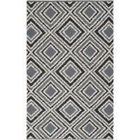 Hand-woven Velva Grey Wool Area Rug - 2' x 3'
