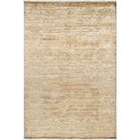 Hand-knotted Waltham Beige Wool Area Rug - 5'6 x 8'6