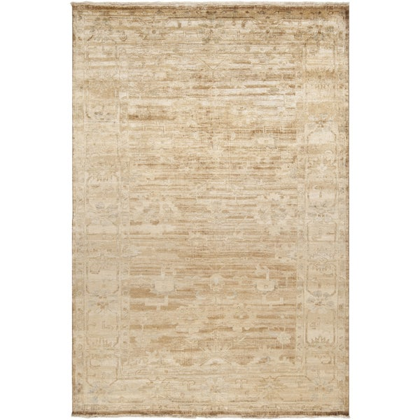 Hand-knotted Waltham Beige Wool Area Rug (5'6 x 8'6)
