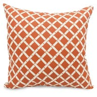 "Majestic Home Goods Bamboo Indoor / Outdoor Large Pillow 20"" L x 8"" W x 20"" H"