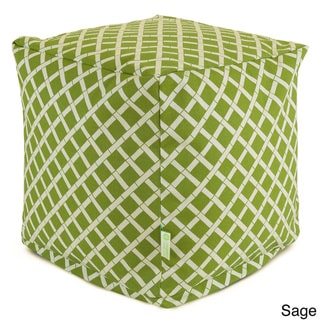 Indoor/Outdoor Bamboo from Rayon Small Cube Ottoman