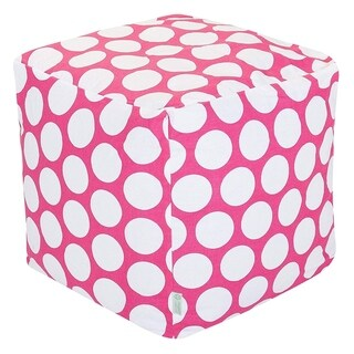 Majestic Home Goods Large Polka Dot Indoor Ottoman Pouf Cube
