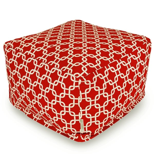 Majestic Home Goods Indoor Outdoor Links Ottoman Pouf 27 in L x 27 in W x 17 in H. Opens flyout.