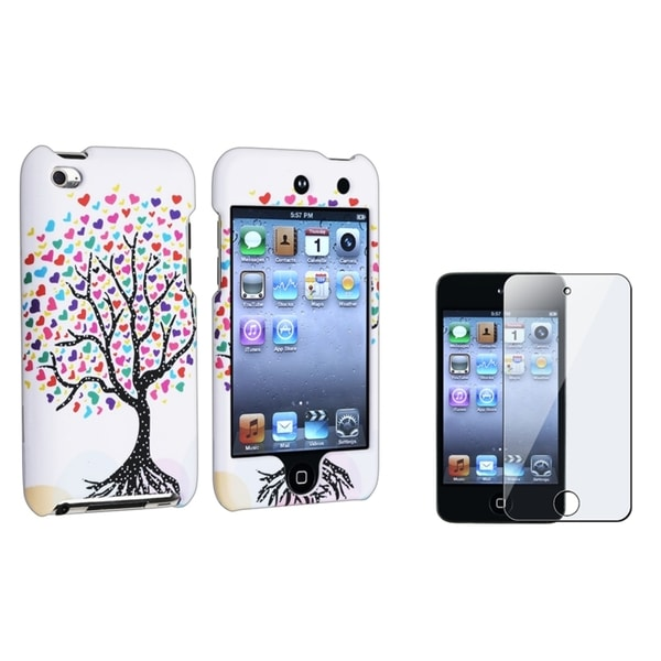 INSTEN Tree/ Hearts iPod Case Cover/ Protector for Apple iPod Touch Generation 4
