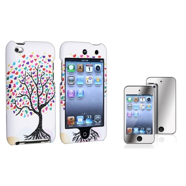 INSTEN iPod Case Cover/ Mirror LCD Protector for Apple iPod Touch Generation 4