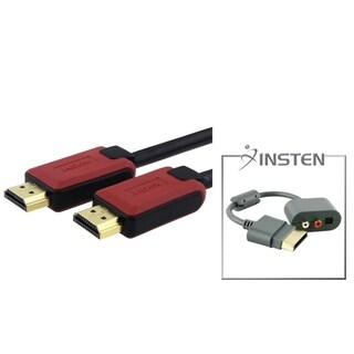 INSTEN RCA Audio Adapter/ Ethernet HDMI Cable for Microsoft Xbox 360