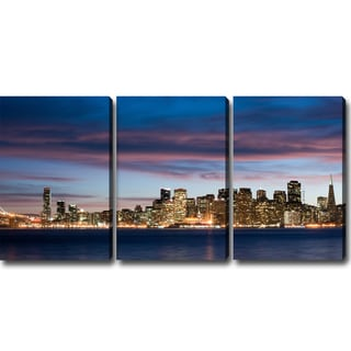 'A Night in San Francisco' Canvas Art (Set of 3)