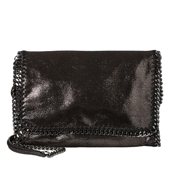 Stella McCartney 'Falabella' Metallic Black Chamois Crossbody Bag