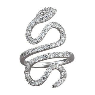 NEXTE Jewelry Sterling Silver Cubic Zirconia Serpent Ring