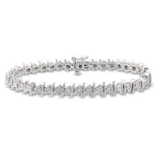 Miadora Sterling Silver 2/5ct TDW Diamond Bracelet