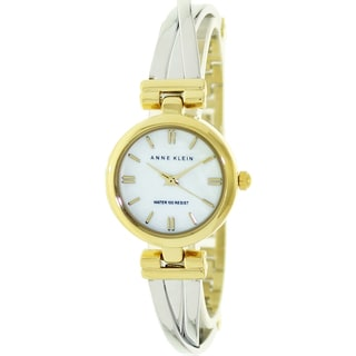 Anne Klein Women's Two-Tone Mother of Pearl Dial Watch