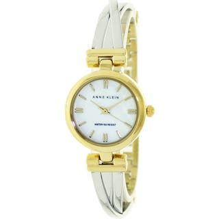 Anne Klein Women's Two-Tone Mother of Pearl Dial Watch|https://ak1.ostkcdn.com/images/products/7660210/P15073804.jpg?impolicy=medium