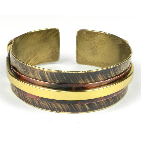 Handcrafted Single Rail Tracks Cuff (South Africa)