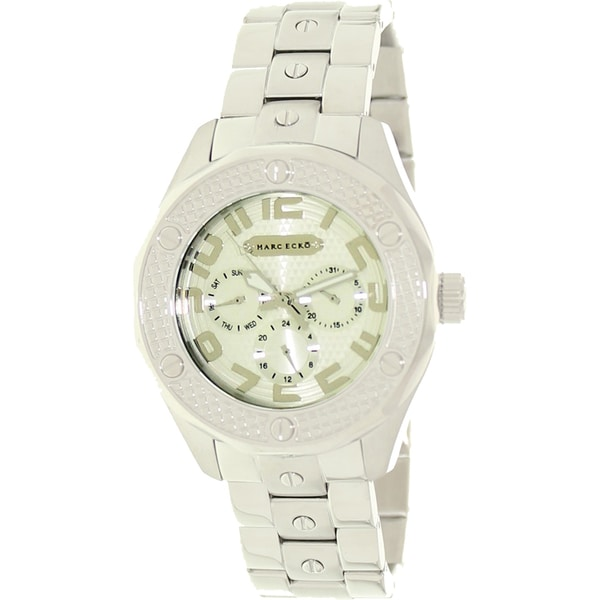 Marc Ecko Men's Stainless Steel Silver Dial Watch
