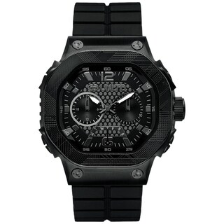 Marc Ecko Men's Black Silicone Strap Chronograph Watch