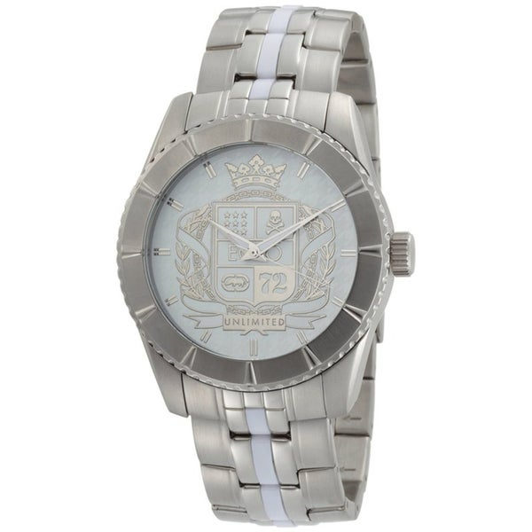Marc Ecko Men's Stainless Steel Coat of Arms Dial Watch
