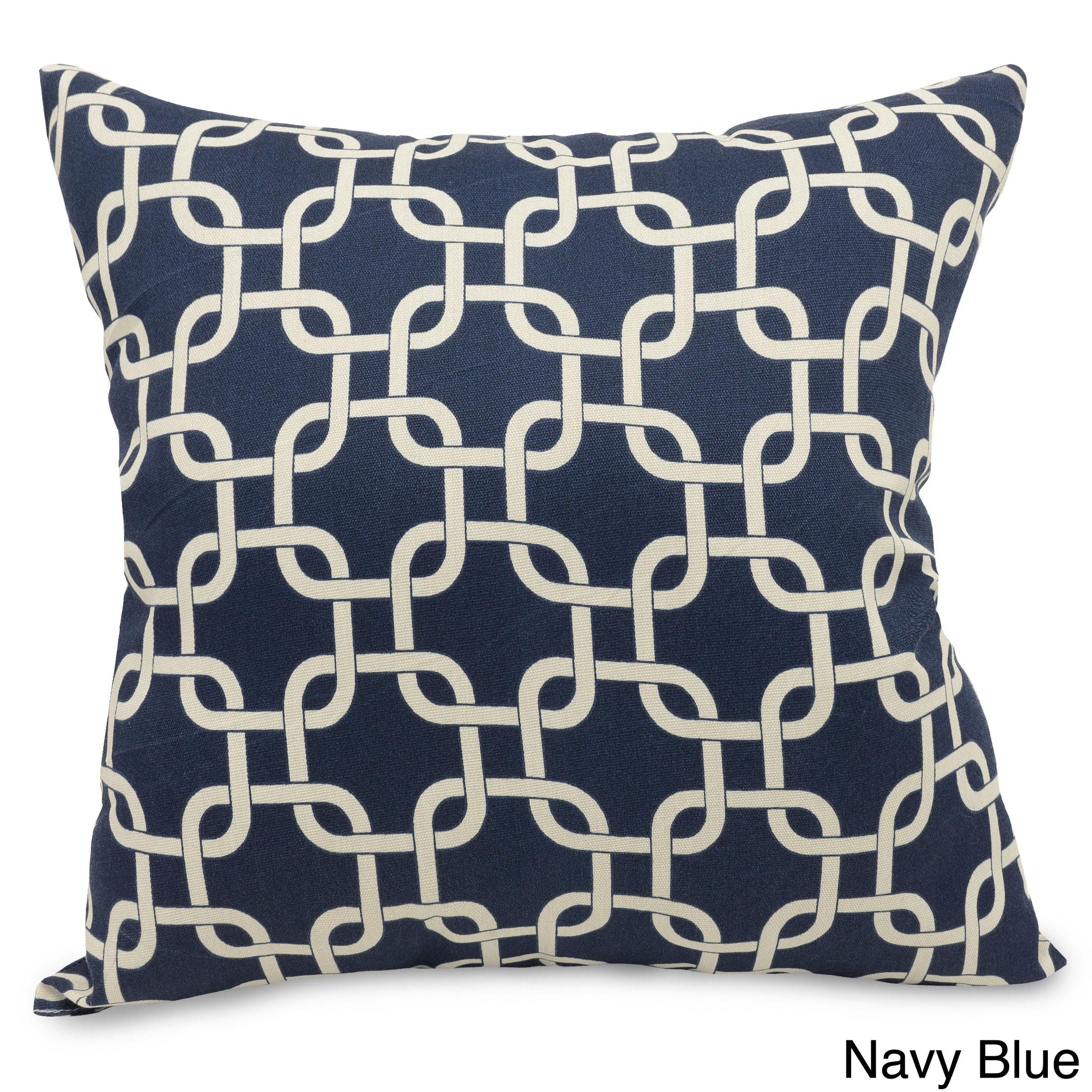 Majestic Home Indoor/Outdoor Links Large Pillow (Navy Blu...