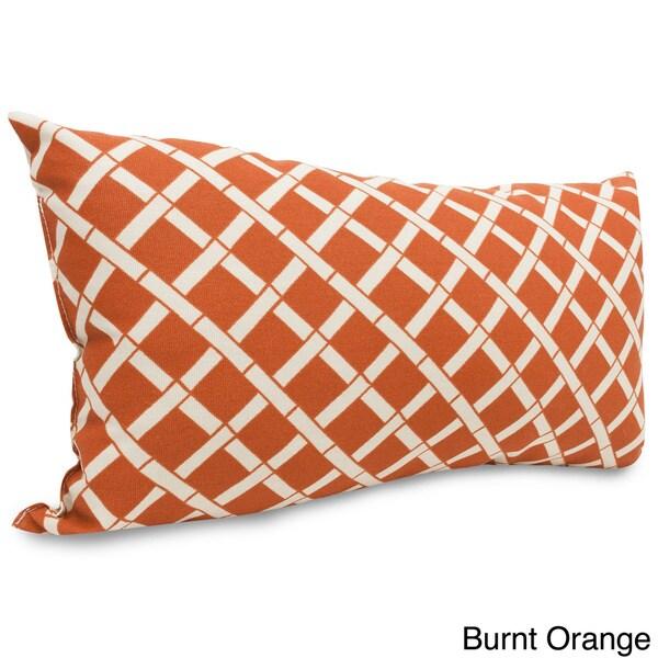 Indoor/Outdoor Bamboo Print Small Pillow