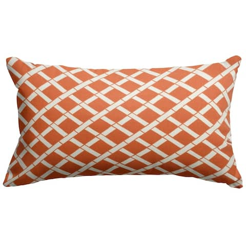 Majestic Home Goods Indoor Outdoor Bamboo Small Decorative Throw Pillow 20 X 12