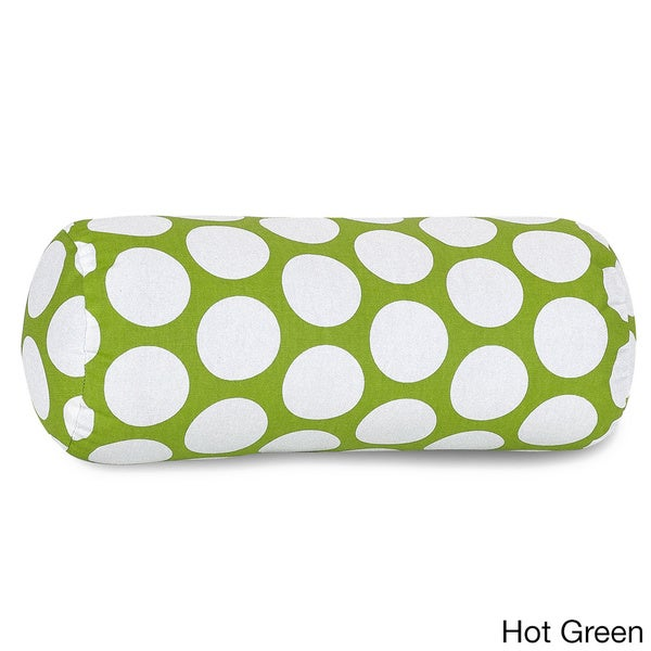 Large Polka Dot Round Bolster Pillow