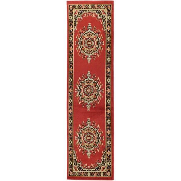 Ottomanson Paterson Collection Oriental Medallion Red Runner Rug (1'11 x 6'11)