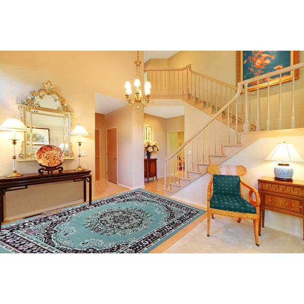 Ottomanson Paterson Collection Oriental Medallion Area Rug (5' x 7')