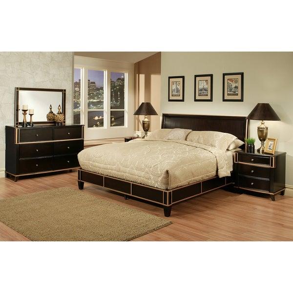 Abbyson Living Metropolitan Espresso 5 Piece Platform Bedroom Set Free Shipping Today