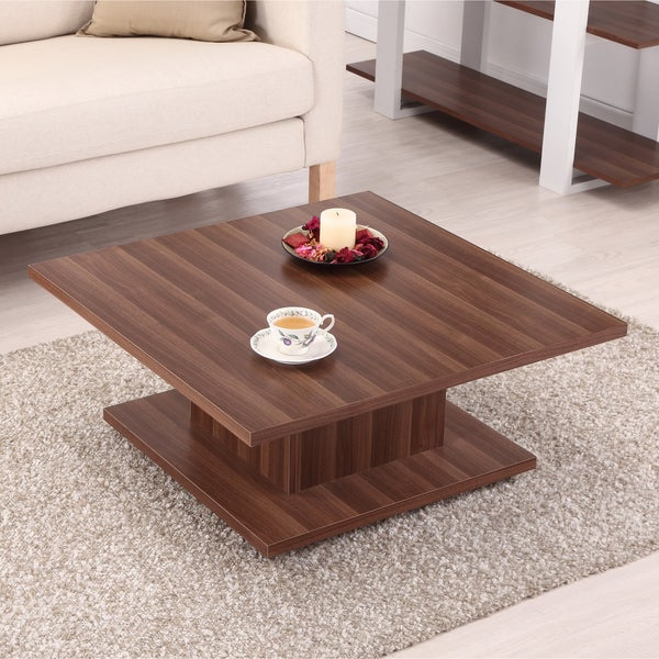 Furniture Of America Pagodi Light Walnut Contemporary Coffee Table Free Shipping Today
