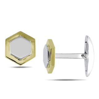Miadora Signature Collection 14k Two-tone Gold Cuff Links https://ak1.ostkcdn.com/images/products/7660453/7660453/Miadora-14k-Two-tone-Gold-Cuff-Links-P15073964.jpeg?impolicy=medium