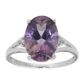 Pearlz Ocean Sterling Silver Oval-cut Blend Ametrine Ring