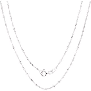 Fremada Italian Sterling Silver 1.22mm Singapore Chain
