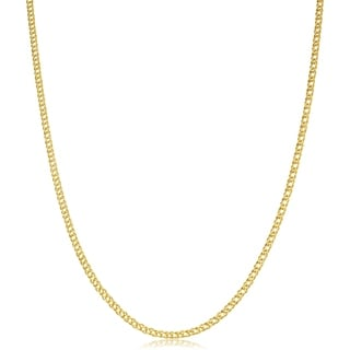 Fremada 14k Yellow Gold 2-mm Diamond Weave Chain