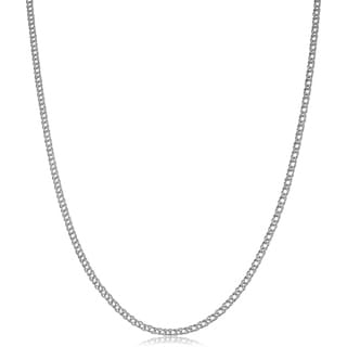 Link to 14k White Gold 2mm Diamond Weave Curb Chain Similar Items in Necklaces