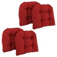 Blazing Needles 19-inch x 19-inch U-shaped Tufted Twill Chair Cushions (Set of 4)