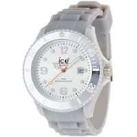 Ice-Watch Men's Sili Collection Silver Silicone Strap Watch