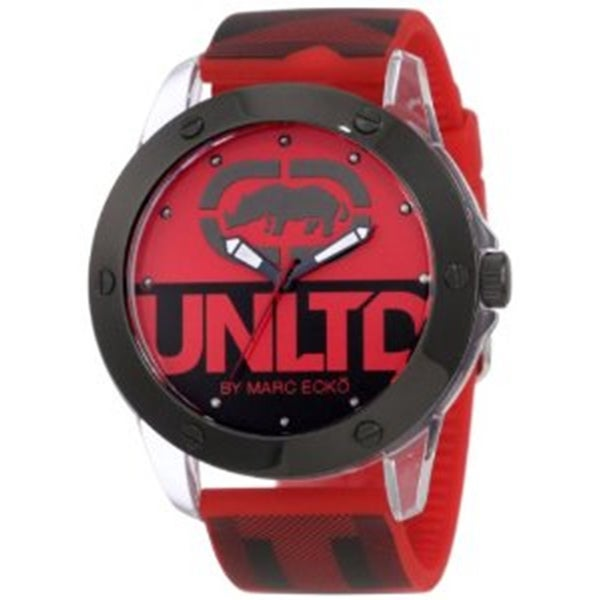 Marc Ecko Men's Red Silicone Strap Watch