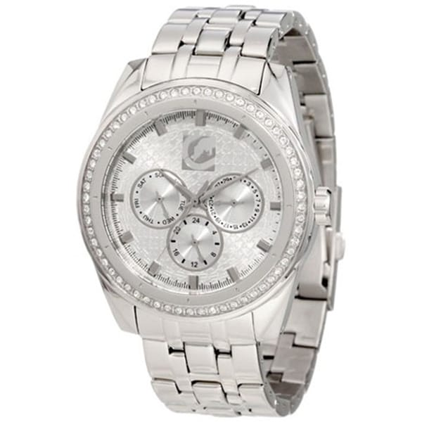 Marc Ecko Men's Crystal-accented Stainless Steel Watch
