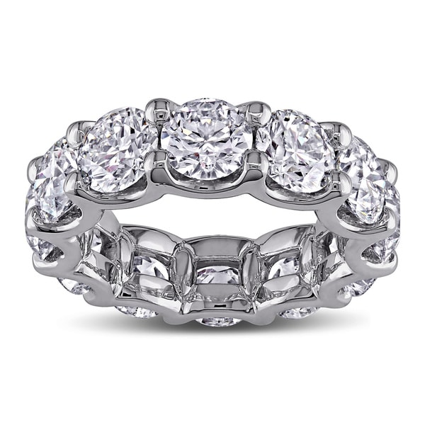 Miadora 18k White Gold 8 1/2ct TDW Diamond Eternity Anniversary Ring (G-H, I1-I2)