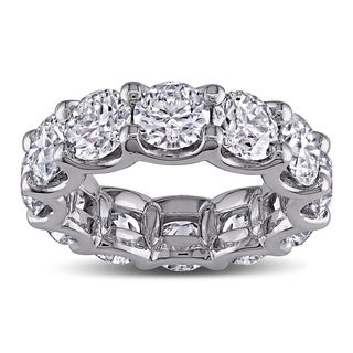Miadora 18k White Gold 8 1/2ct TDW Diamond Eternity Anniversary Ring