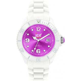 Ice-Watch Men's White/ Purple Silicone Strap Watch