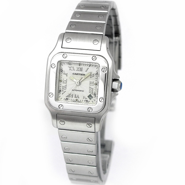 Pre-Owned Cartier Women's 'Santos Galbee' Silver Dial Watch