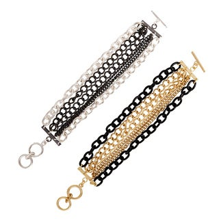 NEXTE Jewelry Two-tone Six-row Multiplicity Bracelet