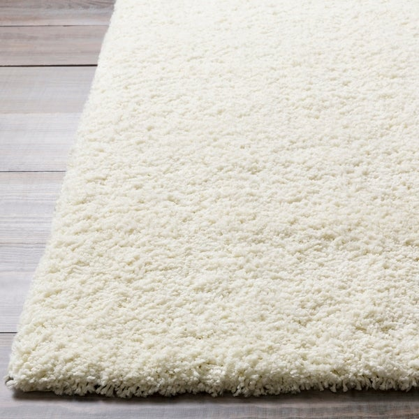 Shop Hand Tufted Andover White Soft Plush Shag Area Rug