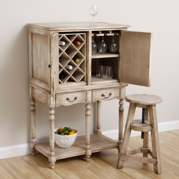 Handmade Cottage Wine Bar Cabinet (Indonesia)