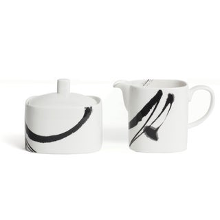 Red Vanilla 'Paint It Black' Creamer and Sugar Set