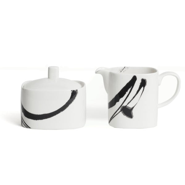 Paint It Black Creamer and Sugar Set