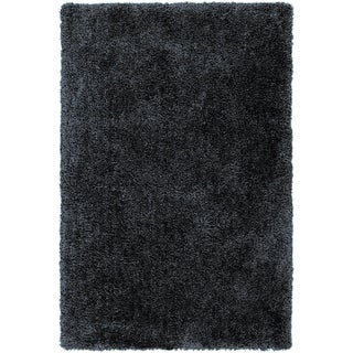 Hand-tufted Benson Navy Soft Plush Shag Rug (8' x 10'6)