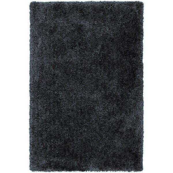 Hand-tufted Benson Navy Soft Plush Shag Rug (8' x 10'6)